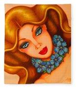 Blue Eyes 3 Fleece Blanket