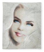 Blue Eyes Blond  Fleece Blanket