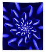 Blue Fantasy Floral Fleece Blanket