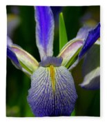 Blue Flag Iris Fleece Blanket