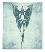 Blue Flight Contemporary Minimalism Fleece Blanket