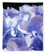Blue Floral Art Prints Blue Hydrangea Flower Baslee Troutman Fleece Blanket