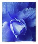 Blue Floral Begonia Fleece Blanket