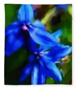 Blue Flower 10-30-09 Fleece Blanket