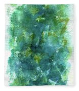 Blue Flower Fleece Blanket