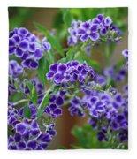 Blue Flowers Card Fleece Blanket