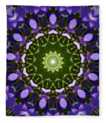 Blue Flowers Kaleidoscope Fleece Blanket