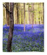 Blue Forest In Shadow Fleece Blanket