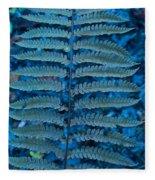 Blue Frond Fleece Blanket