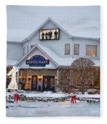 Blue Gate Restaurant Shipshewana In Winter Fleece Blanket