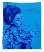 Blue Geisha Fleece Blanket