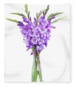 Blue  Gladiolus Fleece Blanket
