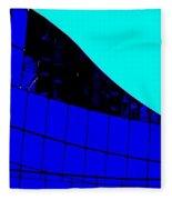 Blue Glass Abstract Fleece Blanket