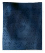 Blue Glimpse Fleece Blanket