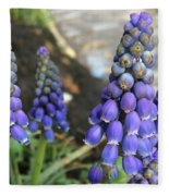 Blue Grape Hyacinths Fleece Blanket