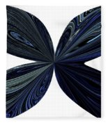 Blue, Green And Black Butterfly Astract Fleece Blanket