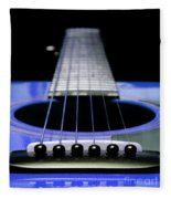 Blue Guitar 14 Fleece Blanket