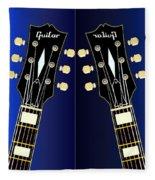 Blue Guitar Reflections Fleece Blanket