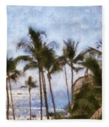 Blue Hawaii Fleece Blanket