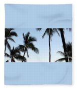 Blue Hawaiian Fleece Blanket