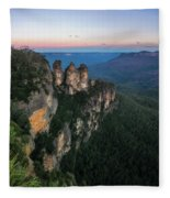 Blue Haze At Sunrise At Ecco Point In Blue Mountains Fleece Blanket