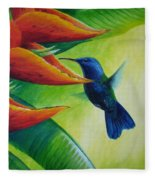 Blue-headed Hummingbird Fleece Blanket