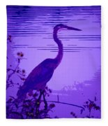 Blue Heron... Fleece Blanket
