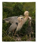 Blue Heron Family Fleece Blanket