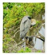 Blue Heron Series Little One Fleece Blanket