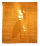 Blue Heron Sunrise Fleece Blanket