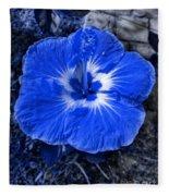 Blue Hibiscus Fleece Blanket