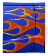 Blue Hot Rod Closeup Fleece Blanket