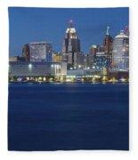 Blue Hour In Detroit Fleece Blanket