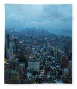 Blue Hour In New York Fleece Blanket