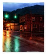 Blue Hour In Webster Springs Fleece Blanket
