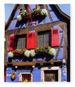 Blue House # I Fleece Blanket