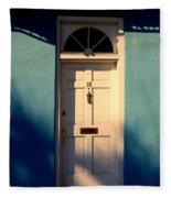 Blue House Door Fleece Blanket