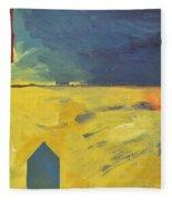 Blue House Gold Field Fleece Blanket