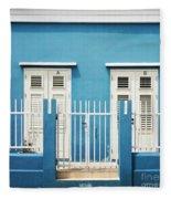 Blue Curacao House Fleece Blanket