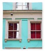 Blue House Fleece Blanket