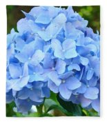 Blue Hydrangea Floral Art Print Hydrangeas Flowers Baslee Troutman Fleece Blanket