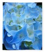 Blue Hydrangea Floral Flowers Art Prints Baslee Troutman Fleece Blanket