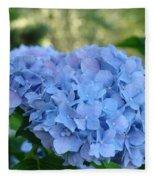 Blue Hydrangea Flower Art Prints Baslee Troutman Fleece Blanket
