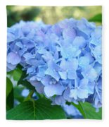 Blue Hydrangea Flowers Art Botanical Nature Garden Prints Fleece Blanket