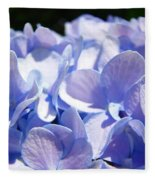 Blue Hydrangea Flowers Art Prints Baslee Troutman Fleece Blanket