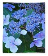 Blue Hydrangea Flowers Floral Art Baslee Troutman Fleece Blanket