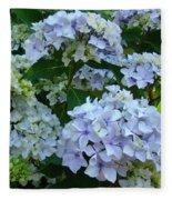 Blue Hydrangeas Art Prints Hydrangea Flowers Giclee Baslee Troutman Fleece Blanket