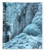 Blue Ice Flows At Tangle Falls Fleece Blanket