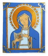 Blue Icon Fleece Blanket