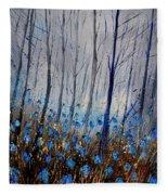 Blue In The Wood Fleece Blanket